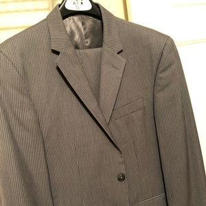 Grey Pinstriped Kenneth Cole Suit